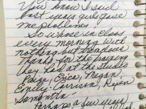 A diary entry from Miss Joan.